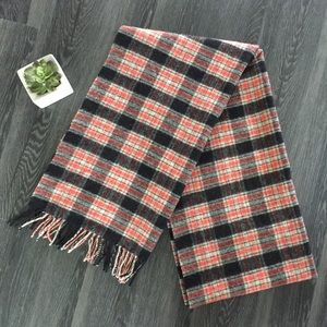 J Crew plaid wool scarf
